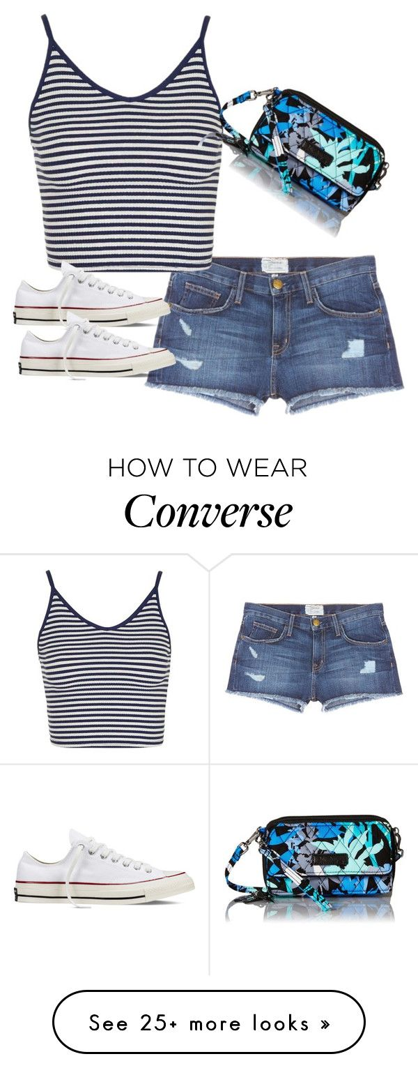 """Darien Lake"" by melw44 on Polyvore featuring Current/Elliott, Topshop, Converse and Vera Bradley"