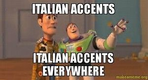Image result for images of Italian accents