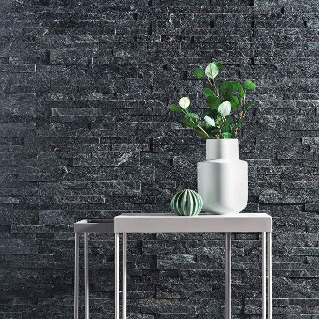 Kamien Quartz 10 X 35 Cm Czarny 0 385 M2 Plytki Elewacyjne Quartz Decor Home Decor