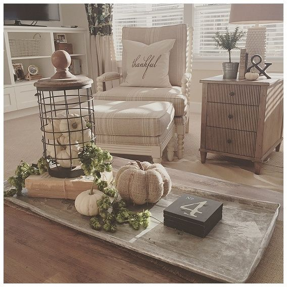 25 best ideas about vintage fall decor on pinterest for Modern farmhouse coffee table