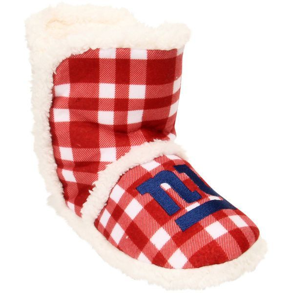 Women's New York Giants NFL Flannel Sherpa Boot Slippers