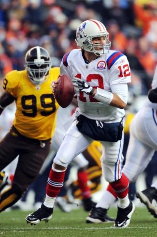 Patriots Broncos Football: Denver, CO - Tom Brady by Chris Schneider