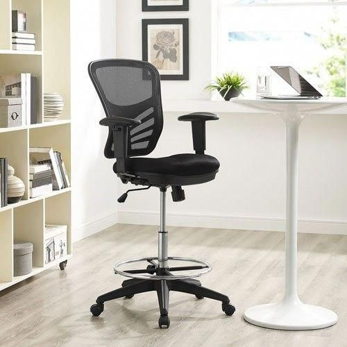 tall office chair for standing desk sky accessories modway articulate drafting in black reception adjustable desks table chaira teendeskchair