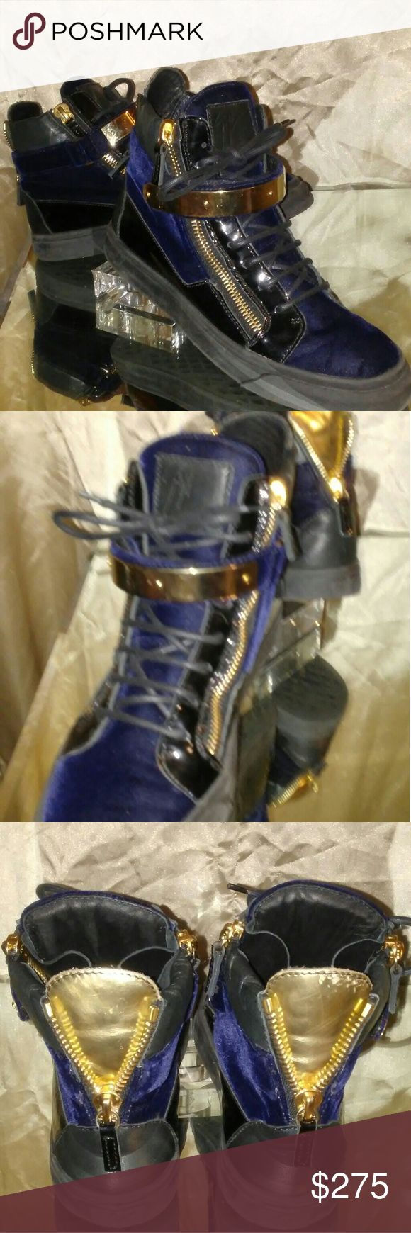 Giuseppe Sneakers Giuseppe Sneakers... sorry pic looks blue. Will retake new pic asap Giuseppe Zanotti Shoes
