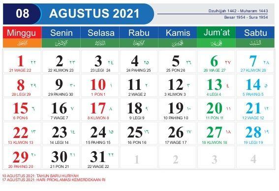 Download Template Kalender 2021 CDR, PDF, PSD, JPG, PNG ...
