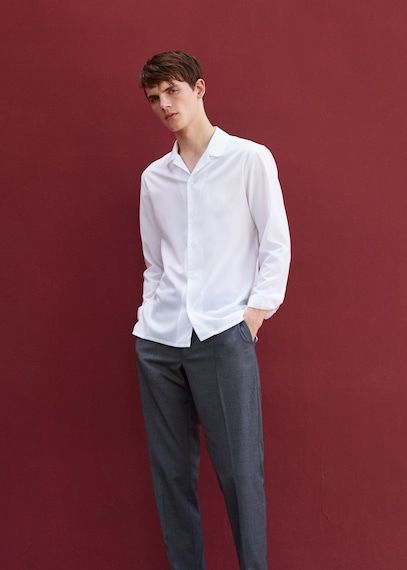 Pantalón traje slim-fit estructura