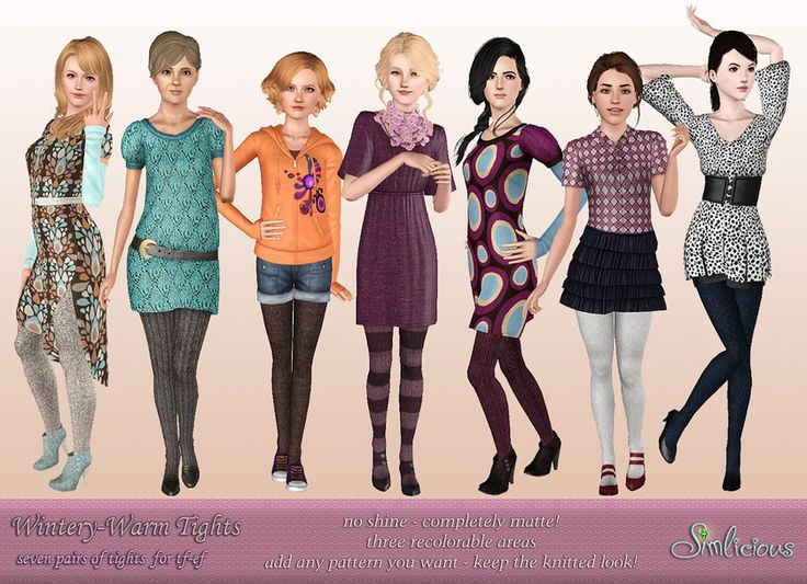 [tf-ef_socks] Wintery-Warm Tights - Custom Content for the Sims 3 by Simlicious