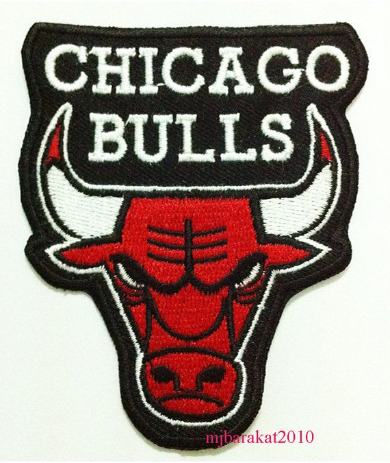 NBA BASKETBALL Chicago Bulls Logo Embroidered Patch on Etsy, $3.19