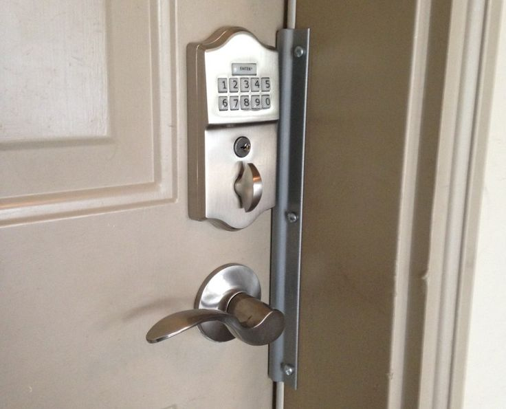 we installed this emtek keypad keyless lock with door hardwares in north york ontario