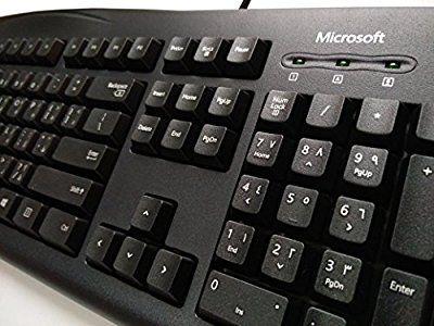 Microsoft® Wired Keyboard 200(Árabe–Inglés) QWERTY 104Key Negro USB