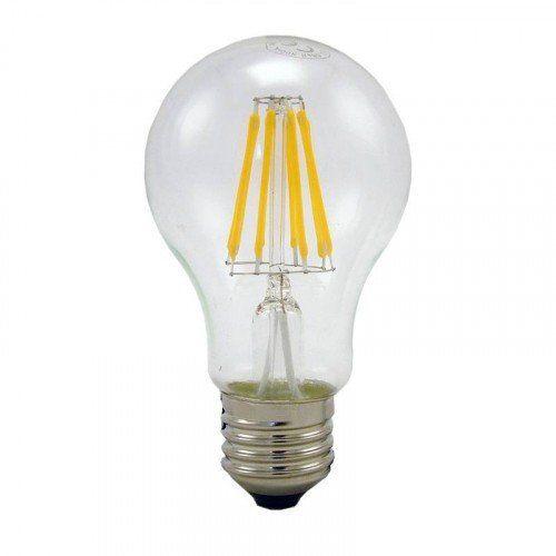 LED lámpa , égő , izzószálas hatás , körte , E27 foglalat , 4 Watt , meleg fehér
