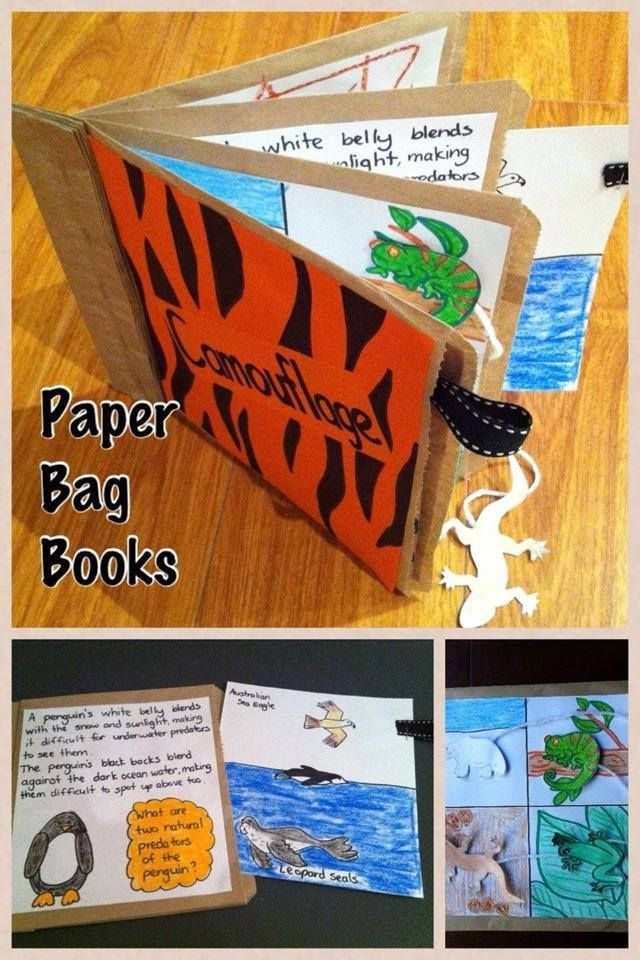 Paper Bag Books - These are easy to make & can be used for so many topics & subject areas! A few ideas... - All About Me (Place photos or special items, like 1st birthday cards, in the pockets.) - Alphabet or Number Books - Poetry - Holiday Journal (Photos, ticket stubs, postcards, pamphlets) - Project for science, health or Society & Environment - Mother's Day or Father's Day gift book https://www.facebook.com/ReliefTeachingIdeas