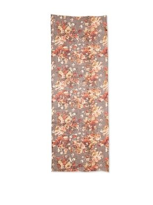 Saachi Women's Victorian Floral Printed Scarf, Rust/Cairodust