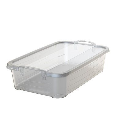 Love this 34-Qt. Handled Stackable Storage Box - Set of Two on #zulily! #zulilyfinds