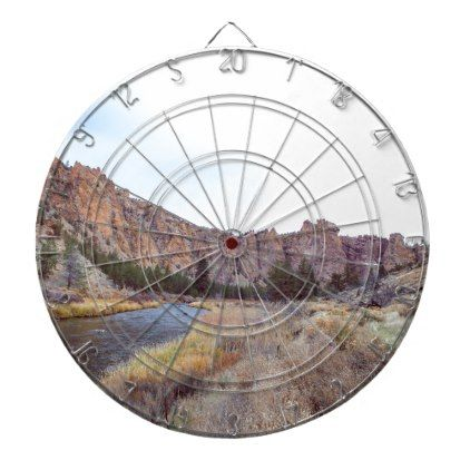Smith Rock Bend Oregon Dartboard With Darts - rustic gifts ideas customize personalize