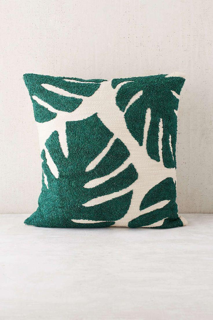Coussin à tapisserie avec motif de palmiers Assembly Home