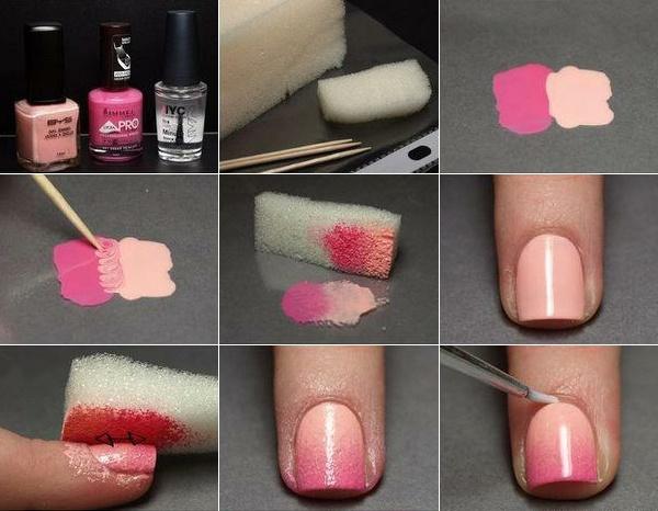 Ombré Nails : unhas em degradê « não sou uma Barbie! (passo a passo, clica na figura)