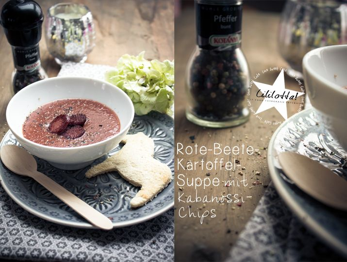 Lililotta The Blog: FOOD/Rote Beete-Kartoffel-Suppe mit Kabanossi-Chips & die aktuelle Degusta-Box
