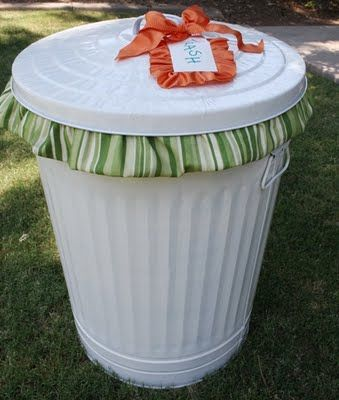 Cutest darn trash can I have ever seen!  Should have these for the wedding - trash and recycle