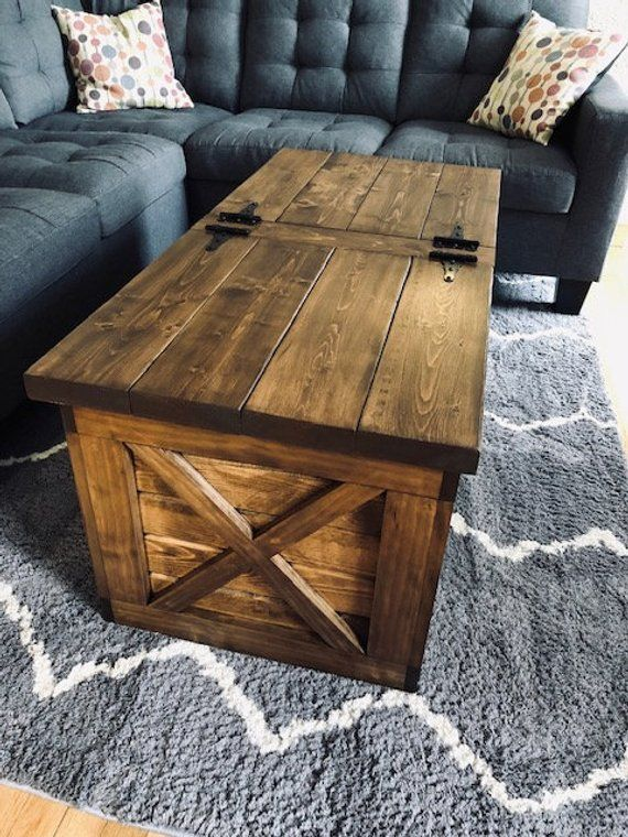 farmhouse storage coffee table free