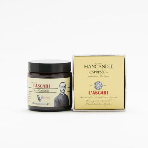 Espresso. Shop now at The Candle Library. L'Ascari candles are handmade in Australia using 100% soy wax.
