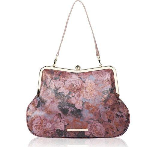 The Elizabeth borsa in pelle con tracolla removibile qvc-moda rosa Retrò