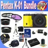 Price tag Comparisons Pentax K-01 16MP APS-C CMOS Compact System Digicam With eighteen-55mm and 55-200mm Lens (Yellow) + Prolonged Life Battery + 32GB SDHC Class 10 Memory Card + USB Card Reader + Memory Card Wallet + Deluxe Situation w/Strap + Shock Evidence Deluxe Case + Mini HDMI to HDMI Cable + three Piece Specialist Filter Package + Professional Entire Size Tripod + Super Vast Angle Lens + 2x Telephoto Lens + Accessory Saver Bundle! Price tag - http://buyingmanual.com/pr