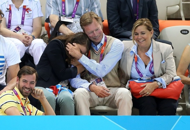 Luxembourg's royal family being adorable at the Olympics.
