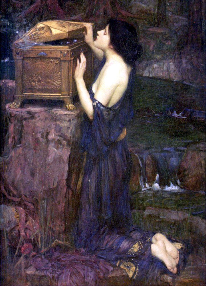 best greek mythology images greek mythology pandora opens the box john william waterhouse acircmiddot greek mythologyclassical