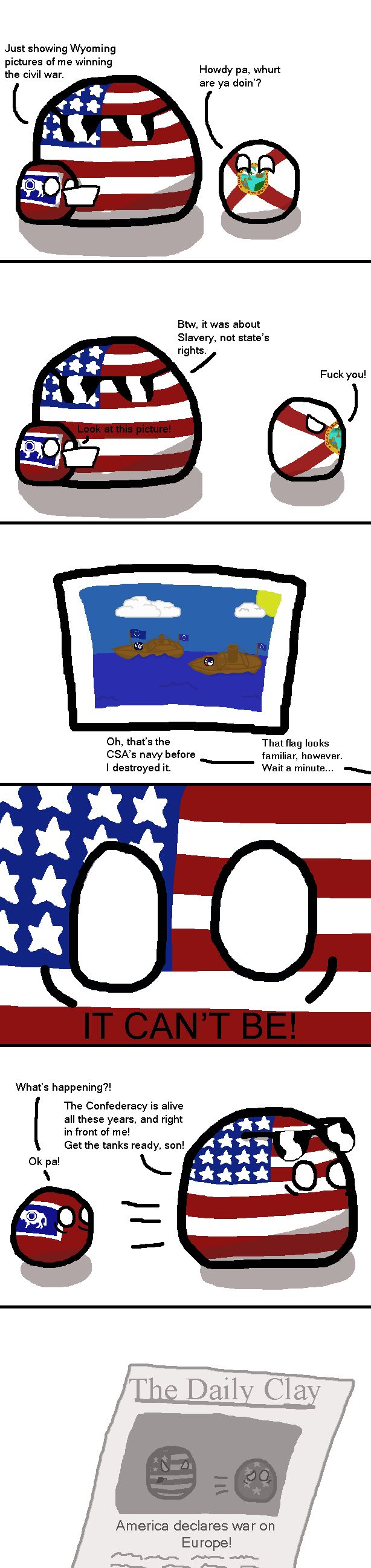 The Hidden Confederacy ( USA : Wyoming, Florida ) by Guppyscum #stateball #polandball #countryball
