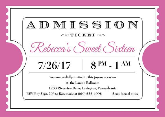 25+ melhores ideias de Admission ticket no Pinterest Prêmios - admit one ticket template