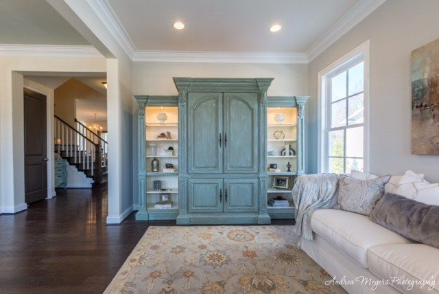 Alana mag painted entertainment center