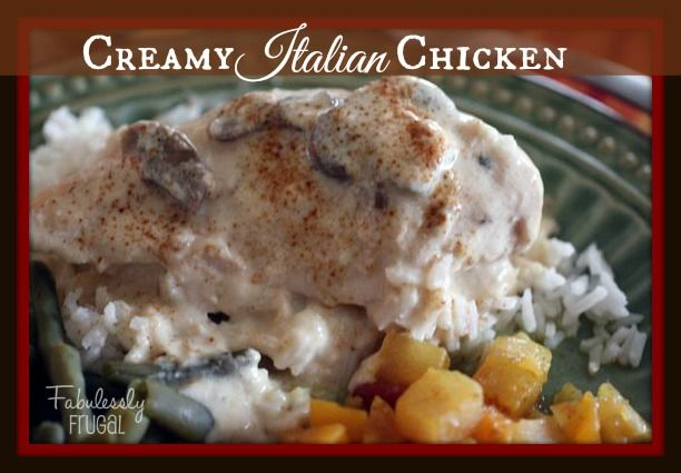 Company worthy Creamy Italian Chicken will become one of your favorite easy, delicious, economical freezer meals.