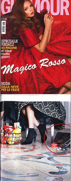 #ledemotiondesign is on Glamour Italia magazine with the silver #bag!  http://bit.ly/LEDpress