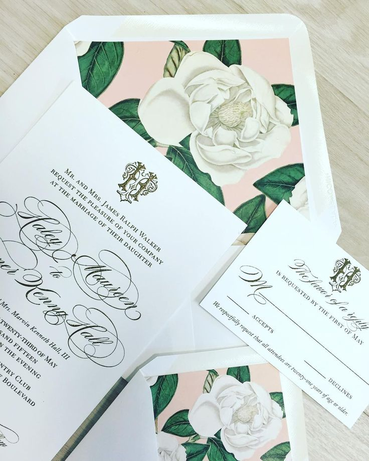Invite with Floral Print Envelope   Photo Courtesy of Nico and Lala. View More: https://www.insideweddings.com/biz/nico-and-lala-chicago/8931/