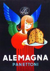 Vintage Italian Posters ~ #illustrator #Italian #posters ~ Alemagna Panettoni