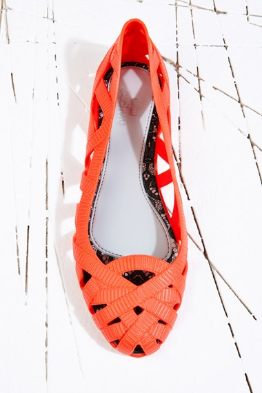 Melissa X Jason Wu Slip On Shoes in Coral at Urban Outfitters