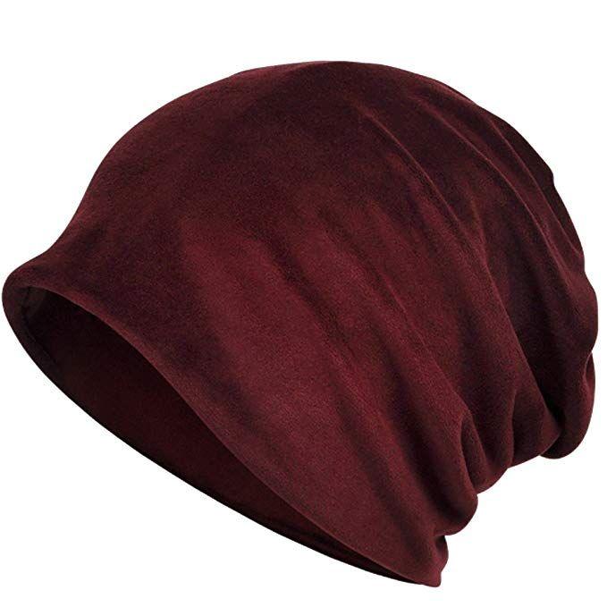 76ec6daca25 Kuyou Women s Multifunction Pure velvet pattern Hat Skull Cap scarf (Red  wine)