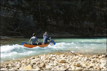 Winter Canoeing on the Buffalo River