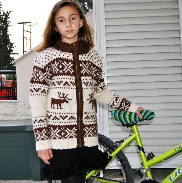 fair isle knitting for girl jacket