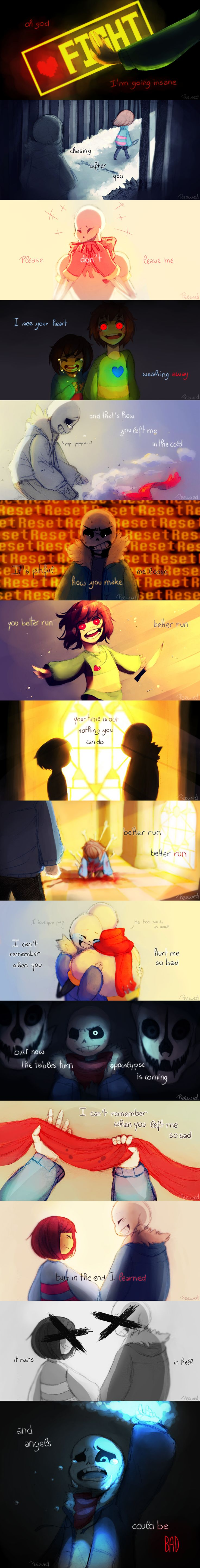 "[UNDERTALE MV] Angels by Peewed on DeviantArt>>>The song used is ""Angels"" by vicetone"