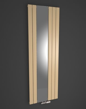 Zen Mirror: Stylish mirror radiator HOTHOT. Available in 216 colours or textures. Trendy vertical room radiator with mirror. Bespoke radiator. Central heating radiator. Available accessory: chrome towel rail. Delivery: 4 weeks.
