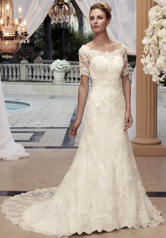 A-line styled gown in satin with sweetheart neckline and lace embellishment I Style 2119: Casablanca Bridal I https://www.theknot.com/fashion/2119-casablanca-bridal-wedding-dress?utm_source=pinterest.com&utm_medium=social&utm_content=june2016&utm_campaign=beauty-fashion&utm_simplereach=?sr_share=pinterest