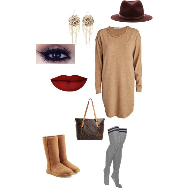 Uggs by strobert on Polyvore featuring polyvore, fashion, style, FWSS, UGG Australia, Louis Vuitton, Bebe, rag & bone and Anastasia Beverly Hills