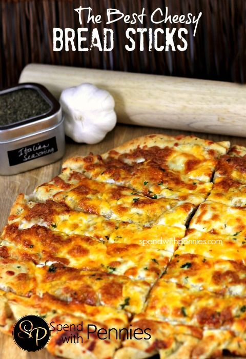 The Best Cheesy Bread Sticks | Recipe | Sticks, Breads and Great ...