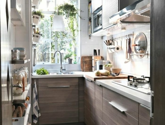 14 best cuisines images on Pinterest Small spaces, Arquitetura and - meuble cuisine porte coulissante ikea