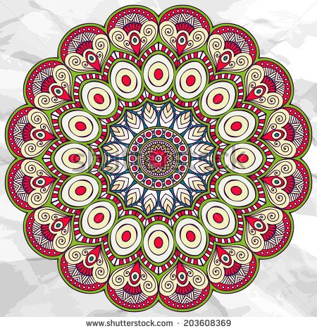 Mandala. Round Ornament vector Pattern. Vintage decorative elements. Hand drawn background. Islam, Arabic, Indian, ottoman motifs. - stock vector
