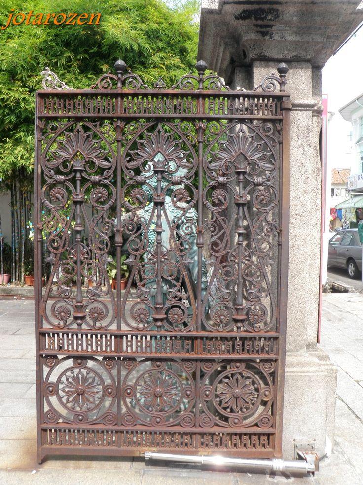 solid wrought iron gate   WROUGHT IRON   Pinterest   Gates ... Solid Iron Gates