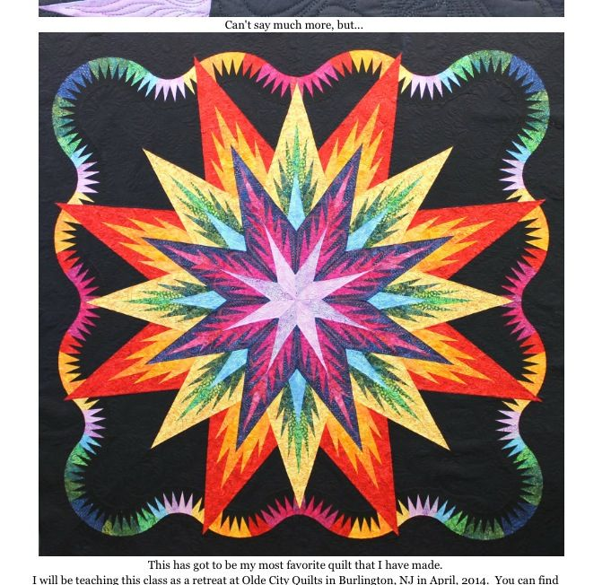 Judy Niemeyer Bali Wedding Star Kit: Rainbow Feathered Star From Canton Village Quilt Works