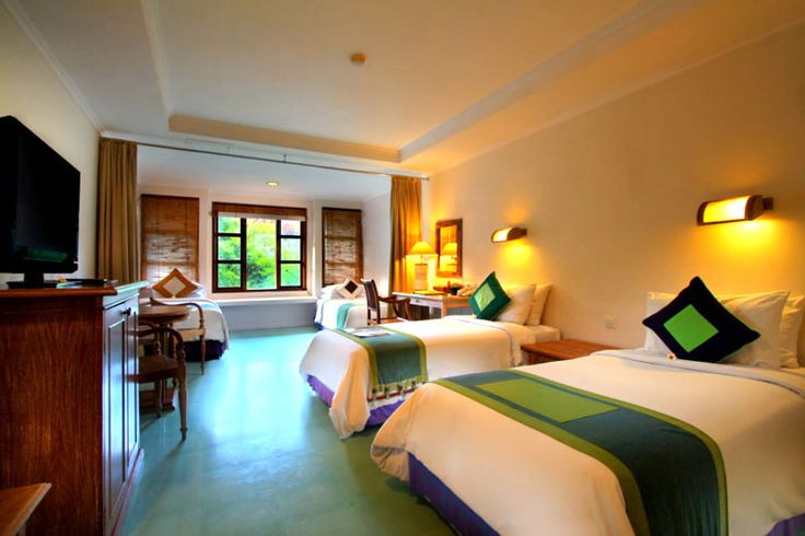 Quad Room Alam Kulkul Boutique Resort is a comfortable guest room with 4 single beds for small adult group and Bali Star Island offers best room rates